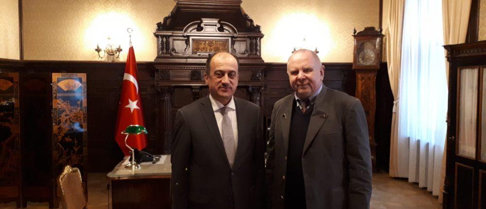 Elmar Samsinger ile büyükelçilik ziyareti